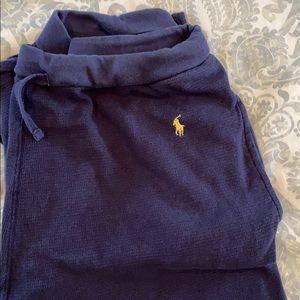 Ralph Lauren navy blue thermal sleepwear